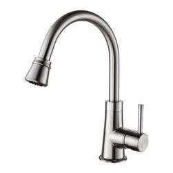 Kraus - Kraus 23 inch Undermount Single Bowl Stainless Steel Kitchen Sink with Satin Nic - *Add an elegant touch to your kitchen with unique Kraus kitchen combo