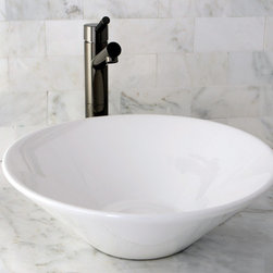 None - Vessel Vitreous China White Bathroom Sink - Update your bathroom decor with this attractive vitreous china vessel sink. The sleek white sink is carefully crafted, stain and germ resistant and very easy to clean.