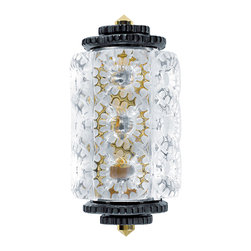 Lalique - Lalique Seville Wall Sconce Small Black & Gilded - Lalique Seville Wall Sconce Small Black & Gilded 1000699  -  Size: 4.92 Inches Long x 7.67 Inches Wide x 14.96 Inches Tall  -  Genuine Lalique Crystal  -  Fully Authorized U.S. Lalique Crystal Dealer  -  Created by the Lost Wax Technique  -  No Two Lalique Pieces Are Exactly the Same  -  Brand New in the Original Lalique Box  -  Every Lalique Piece is Signed by Hand, a Sign of its Authenticity and Quality  -  Created in Wingen on Moder-France  -  Lalique Crystal UPC Number: 090592082010