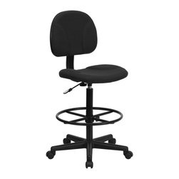 Flash Furniture - Flash Furniture Stool X-GG-KLB-956-TB - Drafting Stools can be used in a multitude of environments including School, Work and for the Home. Not only is this chair great for drafting and regular office assignments it is also useful for people with disabilities who need a higher chair. Drafting stools make it easier for the user when they need or prefer more height to comfortably get in and out of chairs. This chair will satisfy your needs at an affordable price that can't compare! [BT-659-BLK-GG]