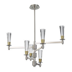 Murray Feiss - Murray Feiss F2814/6 Celebration 6 Light Multi Tier Chandelier - Features: