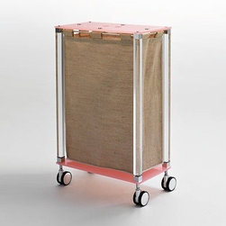 Nameeks - Complementi Linen Cart K122 - Made in Italy. A part of Toscanaluce by Nameek's.The Complementi Linen Cart K122 is a suitable addition to contemporary bathrooms. Featuring plexiglass and brass construction, it offers years of function. This cart comes in four wheels to facilitate easy transportation. Subtle shades, rectangular shape and clean lines make this piece a truly elegant choice. Product Features: