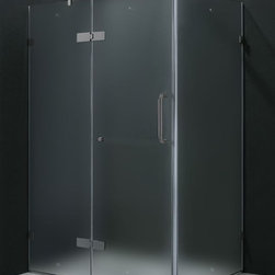 Vigo Industries - 32 in. x 40 in. Frameless Brushed Nickel Shower Enclosure - Update your bathroom with this uniquely stylish and totally frame less Vigo rectangular shape shower enclosure. Clear PVC side gasket installs vertically onto door to ensure a water-tight seal between door and side panel when the door is in the closed position.