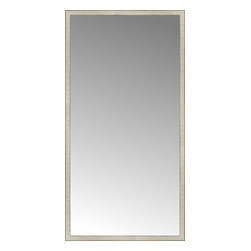 """Posters 2 Prints, LLC - 43"""" x 83"""" Libretto Antique Silver Custom Framed Mirror - 43"""" x 83"""" Custom Framed Mirror made by Posters 2 Prints. Standard glass with unrivaled selection of crafted mirror frames.  Protected with category II safety backing to keep glass fragments together should the mirror be accidentally broken.  Safe arrival guaranteed.  Made in the United States of America"""