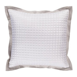 """Surya - Surya Pillow - This pillow's sleek metalic design add a touch of class to your room. Colors of feather gray and white accent this decorative pillow. This pillow contains a down fill and a zipper closure. Add this 18"""" x 18"""" pillow to your collection today."""