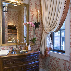 Traditional Powder Room by The Berry Group