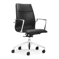 ZUO MODERN - Lion Low Back Office Chair Black - Lion Low Back Office Chair Black