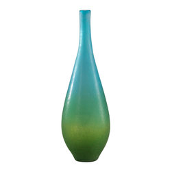 Cyan Design - Cyan Design Lighting 01665 Large Vizio Blue And Green Vase - Cyan Design 01665 Large Vizio Blue And Green Vase