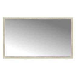 "Posters 2 Prints, LLC - 72"" x 42"" Libretto Antique Silver Custom Framed Mirror - 72"" x 42"" Custom Framed Mirror made by Posters 2 Prints. Standard glass with unrivaled selection of crafted mirror frames.  Protected with category II safety backing to keep glass fragments together should the mirror be accidentally broken.  Safe arrival guaranteed.  Made in the United States of America"