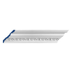 "Inviting Home - Wilmington Crown Moulding - Wilmington crown moulding 5""H x 5-3/8""P x 7-3/8""F x 7'10""L repeat - 5-1/2"" 4 piece minimum order required crown molding specifications: - outstanding quality crown molding made from high density polyurethane: environmentally friendly material is hypoallergenic and fully recyclable no CFC no PVC no formaldehyde; - front surface of this molding has extra durable and smooth surface; - crown molding is pre-primed with water-based white paint; - lightweight durable and easy to install using common woodworking tools; - metal dies were used for consistent quality and perfect part to part match for hassle free installation; - this crown molding has sharp deep and highly defined design; - matching flexible molding available; - crown molding can be finished with any quality paints; Polyurethane is a high density material--it's extremely lightweight and easy to install (and comes primed and ready to paint). It is a green material meaning its CFC and formaldehyde free. It is also moisture resistant--so it won't shrink flex or mold. What's also great about Polyurethane is that it's completely customizable and can be treated as wood (you can saw it nail it screw it and sand it). In addition our polyurethane material comes primed and ready to paint. There is a four piece minimum requirement for this molding purchase."