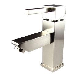 Fresca - Fresca FFT1030BN Versa Single Hole Mount Bathroom Vanity Faucet - Brushed Nickel - Fresca FFT1030BN Versa Single Hole Mount Bathroom Vanity Faucet - Brushed Nickel