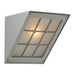 PLC Lighting - PLC 1 Light Outdoor Fixture Bremen Collection 1303/CFL SL - -Finish: Silver