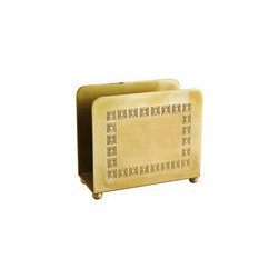 Bradley & Hubbard Brass Letter Holder - Although this is a mail holder, I think it would be a great napkin holder.