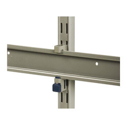 KV Kitchen & Bath Storage - Matrix Hang Rail Adapter - Allows for tool free attachment of easy installation hang rails to 82 series standards. Provides tool free vertical adjustability of hang rails. No need to patch or drill holes in walls when adjusting the height. Hold up to 100 lbs. per pair. Limited warranty. Made from heavy grade steel and automotive grade plastics. Titanium finish. Assembly required. 8.88 in. L x 4.25 in. WMatrix Hang Rail Adapters are easy to install and utilize an All In One ABS lock that secures the Easy Installation Hang Raill to the Hang Rail Adapter, while also locking the Matrix Hang Rail Adapter to an 82 Series Standard. All it takes is one upward push of the lock.