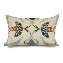 Unique Pillows: Bring Warmth and Beauty to Your Bedroom - This beautiful custom Sultan Carnation pillow is a creation of Bliss Studio. Bliss Studio is famous for featuring nature-inspired designs on their products.