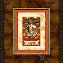 Melissa Van Hise - Melissa Van Hise Vintage Wine Labels V Framed Leather Wall Art -