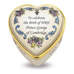 Halcyon Days Enamels The Royal Birth Heart Box