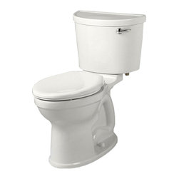 """American Standard - American Standard 211A.A105.020 Champion Pro Right Height Elongated Toilet White - American Standard 211A.A105.020 Champion Pro Right Height Elongated Toilet, White. This vitreous china constructed elongated toilet meets EPA WaterSense criteria, a trade-exclusive tank, a PowerWash rim that scrubs the bowl with each flush, a robust metal right-sided trip lever/metal shank fill valve assembly, an EverClean surface, a 4"""" piston-action Accelerator flush valve, a 12"""" Rough-in, a chrome finish trip lever, and a fully-glazed 2-3/8"""" trapway"""