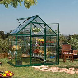 None - Palram Harmony 6x4 Greenhouse - Harmony 6x4 is a smart,beautiful & sturdy structure. It's corrosion resistant & durable powder coated aluminum frame and crystal clear virtually unbreakable polycarbonate panels are practically maintenance free.