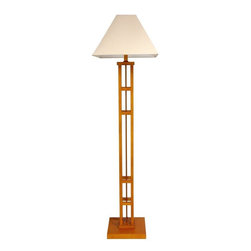 "Oriental Furniture - 62"" Mosko Floor Lamp, Honey - This chic modern floor lamp is crafted from Scandinavian spruce. The dramatic design will stand out in the home or the office."