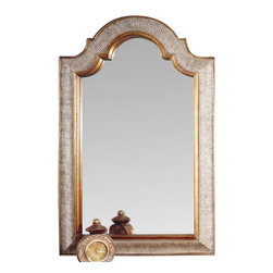Bassett Mirror - Excelsior Silver and Gold Leaf Wall Mirror - Excelsior Silver and Gold Leaf Wall Mirror by Bassett Mirror