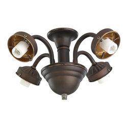Monte Carlo - Four Light Bronze Fan Light Kit - Four Light Bronze Fan Light Kit