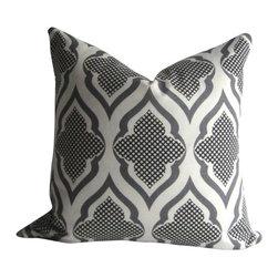 Studio Tullia/Christopher Farr Textiles/Michael Szell - Ravenna Pillow Cover - 20 inch - Michael Szell - Black and white and gray - Ravenna Pillow Cover - 20 inch - Black and white and gray- Cotton - decorative pillow -