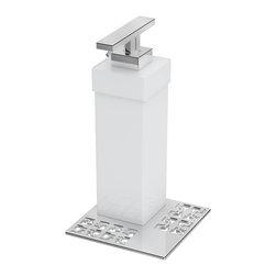 ZEN DESIGN - Zen by Zen Soap Dispenser, White - Oriental Way Of Being Contemporary