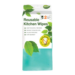 Reusable Kitchen Wipes 2pc - Outperforms and outlasts paper towels, microfiber cloths and disposable wipes. Use wet or dry in the kitchen and even on floors. Ideal for dusting, polishing and carpet spills.
