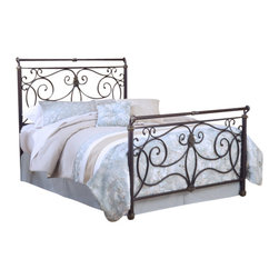 Hillsdale Furniture - Hillsdale Brady Sleigh Bed - Full - Hillsdale Furniture's Brady bed is an exquisite display of free-flowing scrollwork and intricate castings. This sturdy yet romantic bed features an antique bronze finish and has a slight sleigh silhouette. From the feet to the top rail, the intriguing details are what set this bed apart from the others and makes it a fantastic addition to your master or guest bedroom.