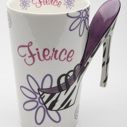 Cosmos - 'Fierce' Mug - Wake up with a fresh cup of coffee or tea served in this ceramic mug. The fierce design will help you start the day with your best foot forward. �� 4.5'' W x 5'' H x 3.25'' D Earthenware Hand wash Imported