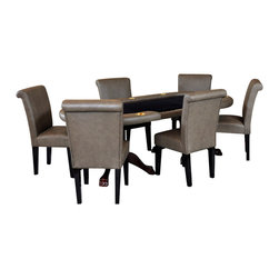 BBO Poker Tables - BBO Poker The Premier Premium 7-Piece Poker Table Set with 6 Lounge Chairs - BLU - A poker table that matches your style!