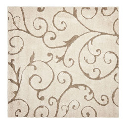 Safavieh - Shag Shag Square 5' Square Cream-Beige Area Rug - The Shag area rug Collection offers an affordable assortment of Shag stylings. Shag features a blend of natural Cream-Beige color. Machine Made of Polypropylene the Shag Collection is an intriguing compliment to any decor.