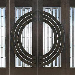 """Prehung Double 2-1/4"""" Thick Mahogany Doors Sidelites Art Glass Iron Work - SKU#NW-1621-Ext-2-2BrandAAWDoor TypeExteriorManufacturer CollectionNew World DoorsDoor ModelDoor MaterialWoodWoodgrainMahoganyVeneerPrice8268Door Size Options2(30"""")+2(18"""") x 80"""" (8'-0"""" x 6'-8"""")  $02(36"""")+2(18"""") x 80"""" (9'-0"""" x 6'-8"""")  +$602(30"""")+2(18"""") x 96"""" (8'-0"""" x 8'-0"""")  +$7282(36"""")+2(18"""") x 96"""" (9'-0"""" x 8'-0"""")  +$788Core TypeSolidDoor StyleModern , CircleDoor Lite StyleFull Lite , 1 LiteDoor Panel StyleHome Style MatchingContemporaryDoor ConstructionEngineered Stiles and RailsPrehanging OptionsPrehungPrehung ConfigurationDouble Door with Two SidelitesDoor Thickness (Inches)2.25Glass Thickness (Inches)3/4Glass TypeTriple GlazedGlass CamingGlass FeaturesInsulated , Tempered , BeveledGlass StyleClear , Matte , Art Glass , Glass TextureClear , Matte , Art Glass , Glass ObscurityDoor FeaturesDoor ApprovalsFSCDoor FinishesDoor AccessoriesWeight (lbs)1190Crating Size25"""" (w)x 108"""" (l)x 52"""" (h)Lead TimeSlab Doors: 7 daysPrehung:14 daysPrefinished, PreHung:21 daysWarranty1 Year Limited Manufacturer WarrantyHere you can download warranty PDF document."""