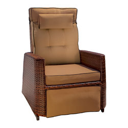 Great Deal Furniture - Westwood Outdoor Glider Recliner Chairs (set of 2) - Relax outdoors with our Westwood Outdoor Recliner. Engineered with comfort in mind, the recliner is built around an aluminum frame, covered with PE wicker to withstand the weather. Topped off with comfy cushions allow for hours of relaxation and reuse.