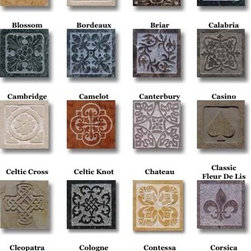 """Decos - Available in 4""""x4"""", 6""""x6"""", 8""""x8"""", & 12""""x12""""."""