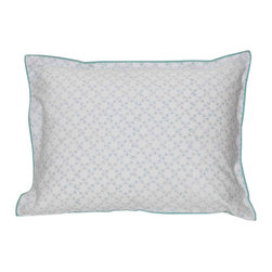 Mia + Finn - Orla Sky Standard Pillow Shams (set of 2) - Sweet dreams, you'll find, are made of 300 thread count cotton percale. Choose these pretty shams for their delicate pattern and cool, comfortable feel and bedeck your bed beautifully.
