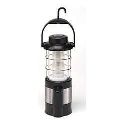 "Kay Home Products - Rechargeable Indoor and Outdoor LED Lantern - 24"" - With its 24 ultra bright diffused LED bulbs that never need replacement, this rechargeable lantern provides 58 lumens. It features a side crank that recharges the NiMH power source and an outlet that lets you charge a mobile device in an emergency. Best of all, its lightweight easy-to-carry design boasts a sturdy steel base and flip-up hook.Features:"