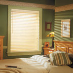 Comfortex - Comfortex Woodwinds S-Curve 2-inch Faux Wood Blinds - The S-Curve line features uniquely shaped slats in whites and off-whites for a softer look yet with amazing durability.