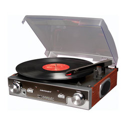 Crosley - Entertainment Center  Tech Turntable - Mahogany - Temporarily out of stock