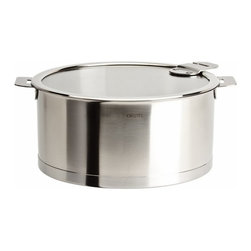 Cristel USA - Cristel Strate Removable Handle - 6.97 Qt Stew Pan w/Lid - ***REMOVABLE HANDLES SOLD SEPARATELY***