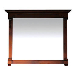 Buy lighted bathroom vanity mirrors online lighted vanity mirror for - Jm For Thos Baker Bates 47 In Mirror Burnished Oak