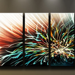 Matthew's Art Gallery - Metal Wall Art Abstract Modern Contemporary Flower Lotus - Name: Lotus