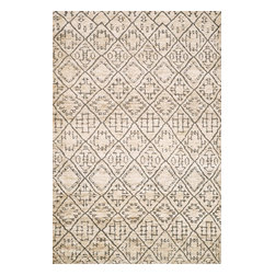 Loloi Rugs - Loloi Rugs SAHASJ-03SA0086B6 Sahara Sand Transitional Hand-Knotted Rug - If it's a stylish statement you seek to make, then we have the rug for you. From India, the Sahara Collection updates living areas with a fresh take on nomadic, Moroccan inspired rugs. Sahara is hand knotted with two different fibers - jute and wool - the later forms the ethnic patterns in each design. Available in traditional off-whites and gorgeous blues.