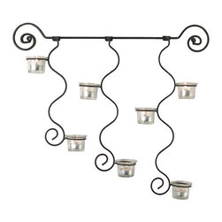 Danya B - Curly Candle Holder Wall Sconce - Sturdy iron sconce is an elegant addition to your home decorIlluminate your walls with this chic curly candle holderEasy-to-hang decorative accessory looks great in any room