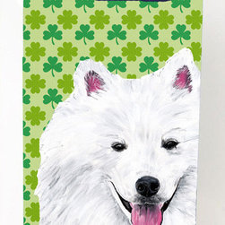 Caroline's Treasures - American Eskimo Shamrock Portrait Michelob Ultra Koozies for slim cans - American Eskimo St. Patrick's Day Shamrock Portrait Michelob Ultra Koozies for slim cans SC9299MUK Fits 12 oz. slim cans for Michelob Ultra, Starbucks Refreshers, Heineken Light, Bud Lite Lime 12 oz., Dry Soda, Coors, Resin, Vitaminwater Energy, and Perrier Cans. Great collapsible koozie. Great to keep track of your beverage and add a bit of flair to a gathering. These are in full color artwork and washable in the washing machine. Design will not come off.