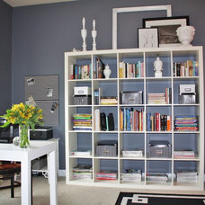 eclectic home office by Emily A. Clark