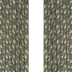 """Sweet Jojo Designs - Camo Green Window Panels (Set of 2) - Create a stylish look for your child's room with the Camo Green Window Panels (Set of 2).  This set features 2 Window Panels that are 42"""" x 84"""" each."""