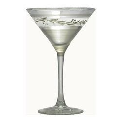 Golden Hill Studio - Pewter Vine Martini Glass - If you need a reason to host a happy hour at your home, you have found it. This hand-painted martini glass whispers sweet nothings in your guests hands as they flit about, enjoying the libations. Don't be surprised if you have to start turning people away at the door.