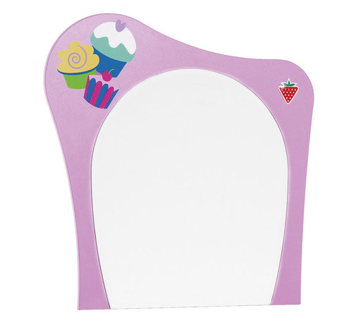 "Cilek - Cupcake Mirror - Cupcake mirror integrates rounded lines and beautiful colors, and adds style to the room with the cupcake drawer. Cupcake mirror is great addition to ""Pretty in Pink"" collection."